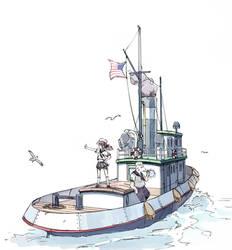 Tugboat by guntama