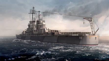 USS Cleveland by guntama