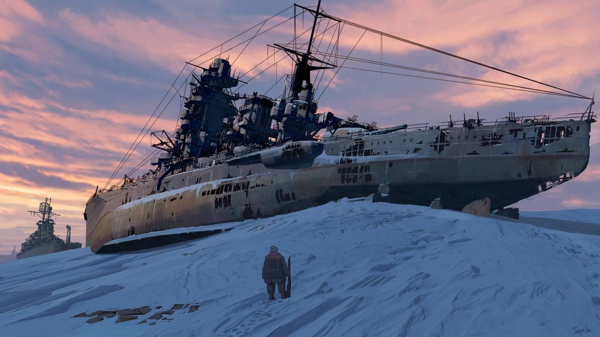 Ship's graveyard by guntama
