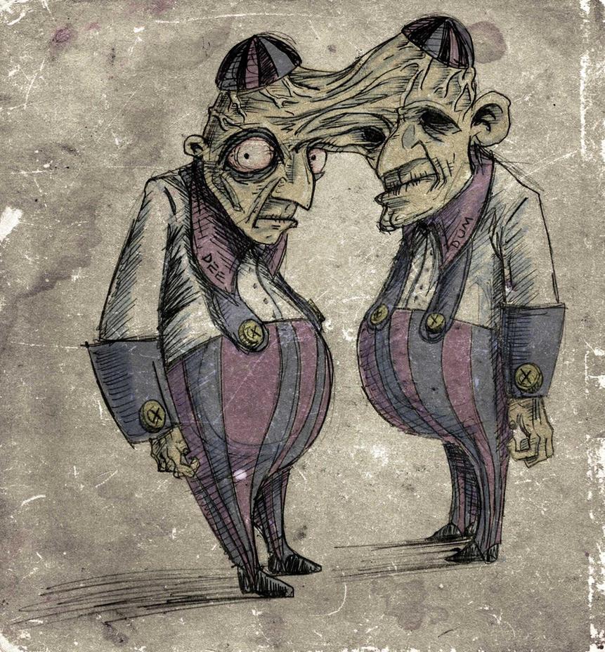 Tweedle Dee and Tweedle Dum by ex-oblivione