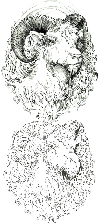 aries tattoo design by endofnonentity on DeviantArt