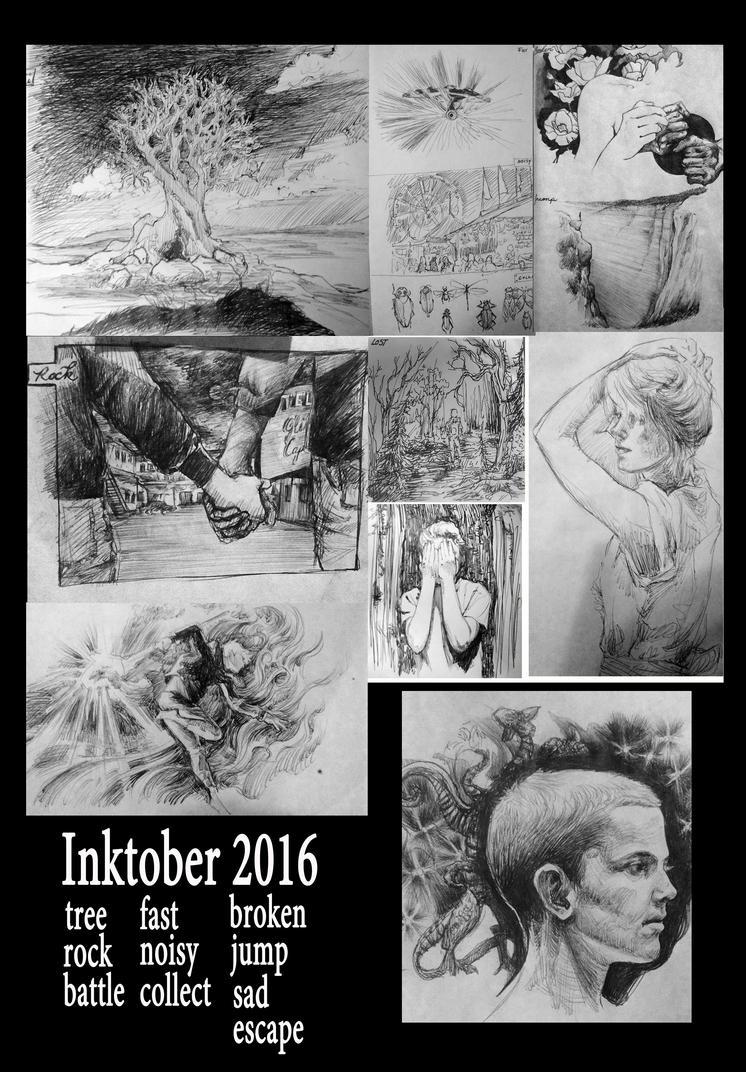 Inktober 2016 by endofnonentity