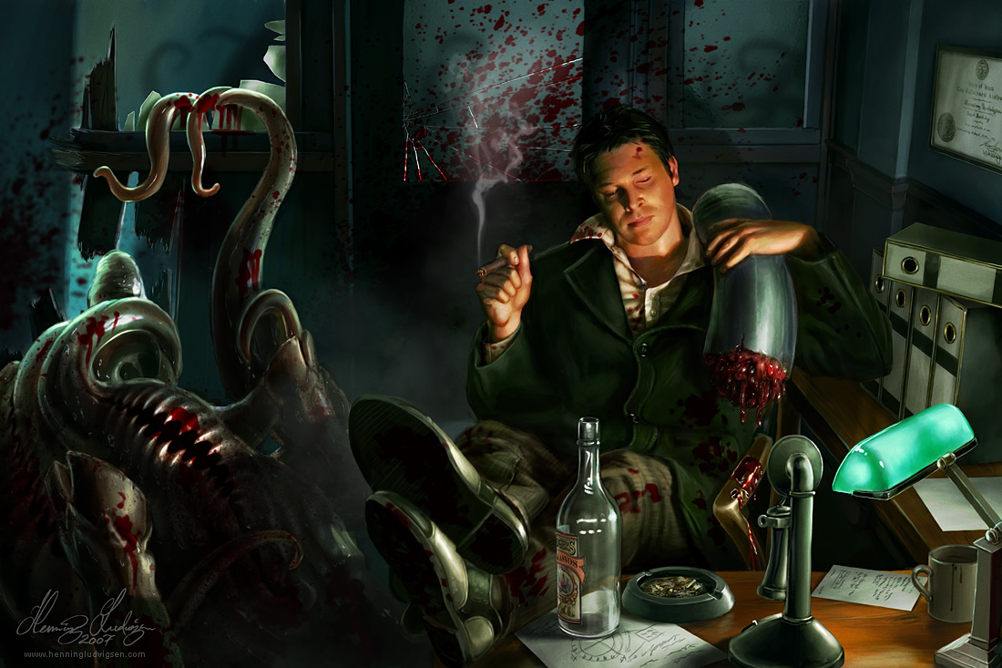 Cthugha Arkham Horror Having a break by henn...