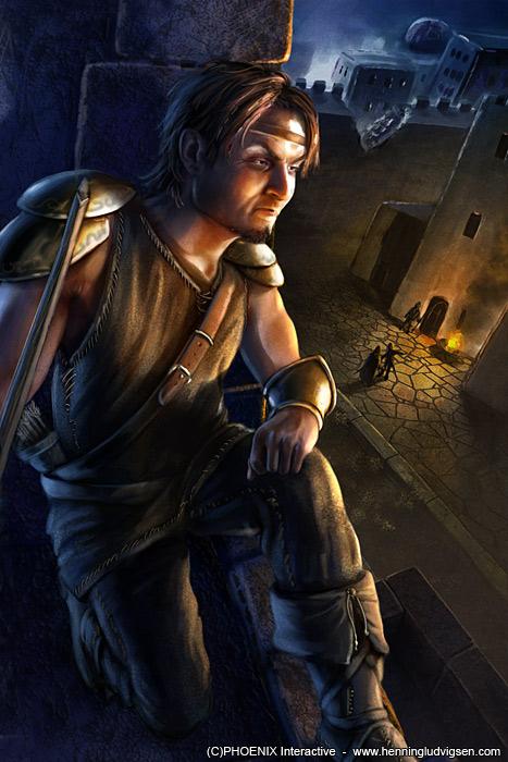 Warlord CCG - Logan Ebonwoulfe by henning