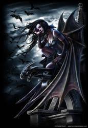 Spiral vampire angel by henning
