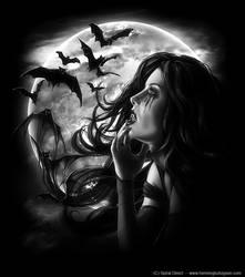 Spiral vampire angel, front by henning