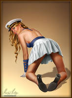 Pin-up chick by henning