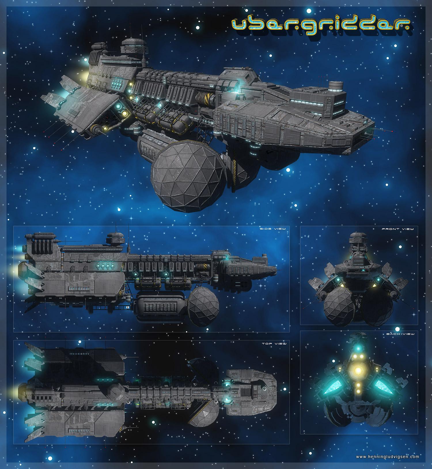 Ubergridder Spaceship By Henning On DeviantArt - Spaceship design game