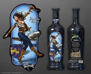 Portrait - Aviator wine labels by henning