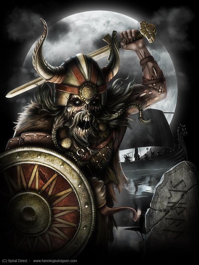 Spiral undead viking by henning