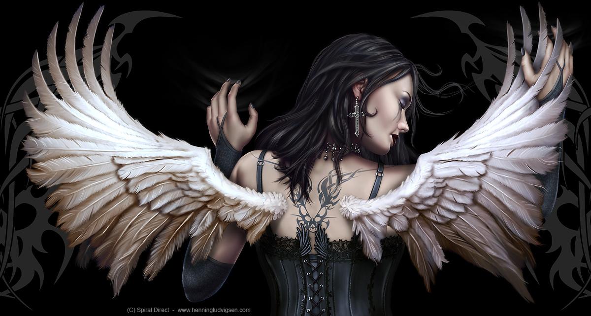 Spiral Angel wrap by henning