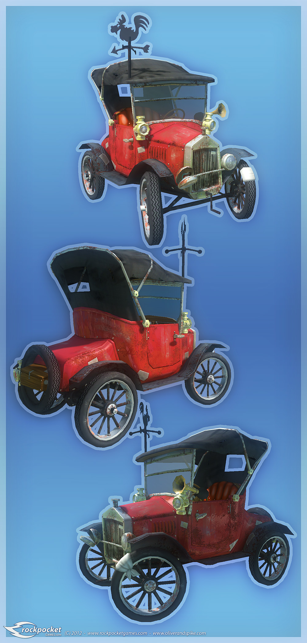 Oliver and Spike - The McSplice Family Car by henning