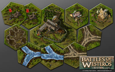 Battles of Westeros expansion, board game by henning