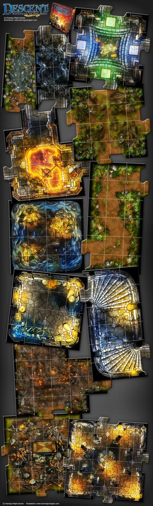 Descent 2nd edition - Lair of The Wyrm expansion by henning