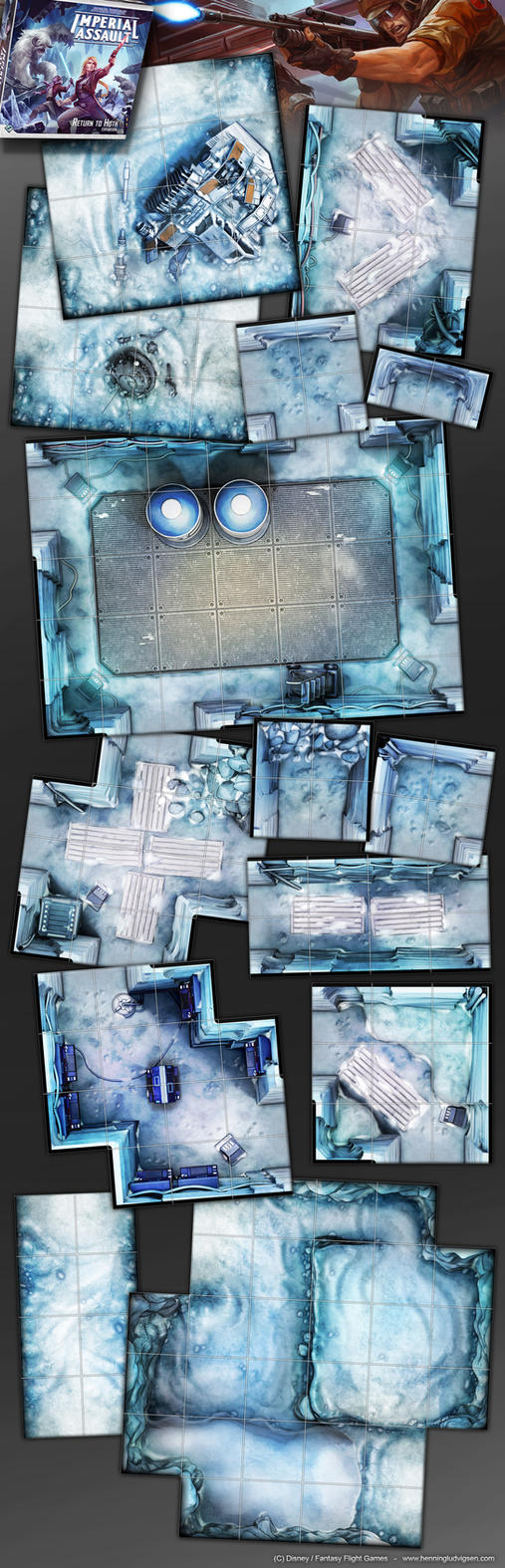 Star Wars, Imperial Assault, Return to Hoth 1 by henning