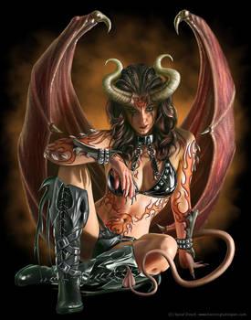 Spiral demon girl
