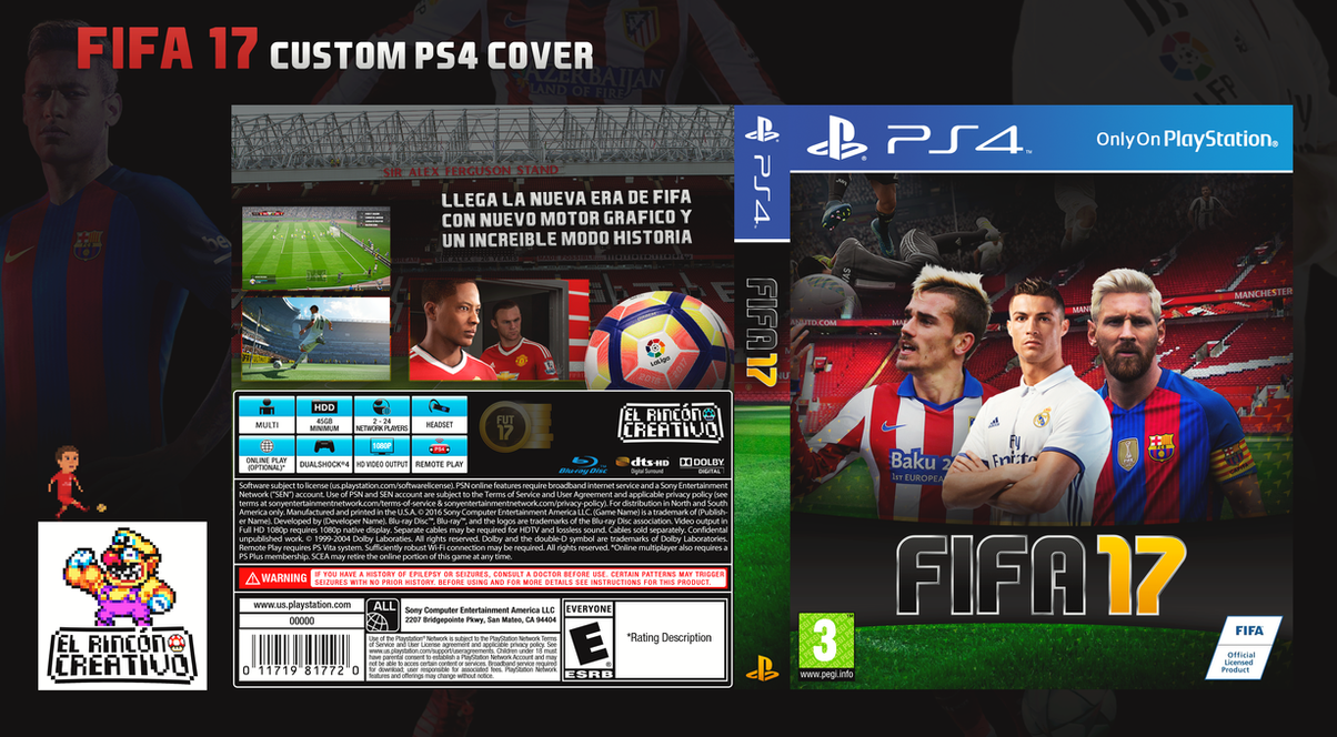 FIFA 17 Custom PS4 Cover by ElRinconCreativo on DeviantArt