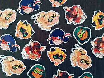 Ladybug Stickers 'HEROES' by breesciarpa