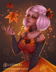 Autumn Girl by breesciarpa