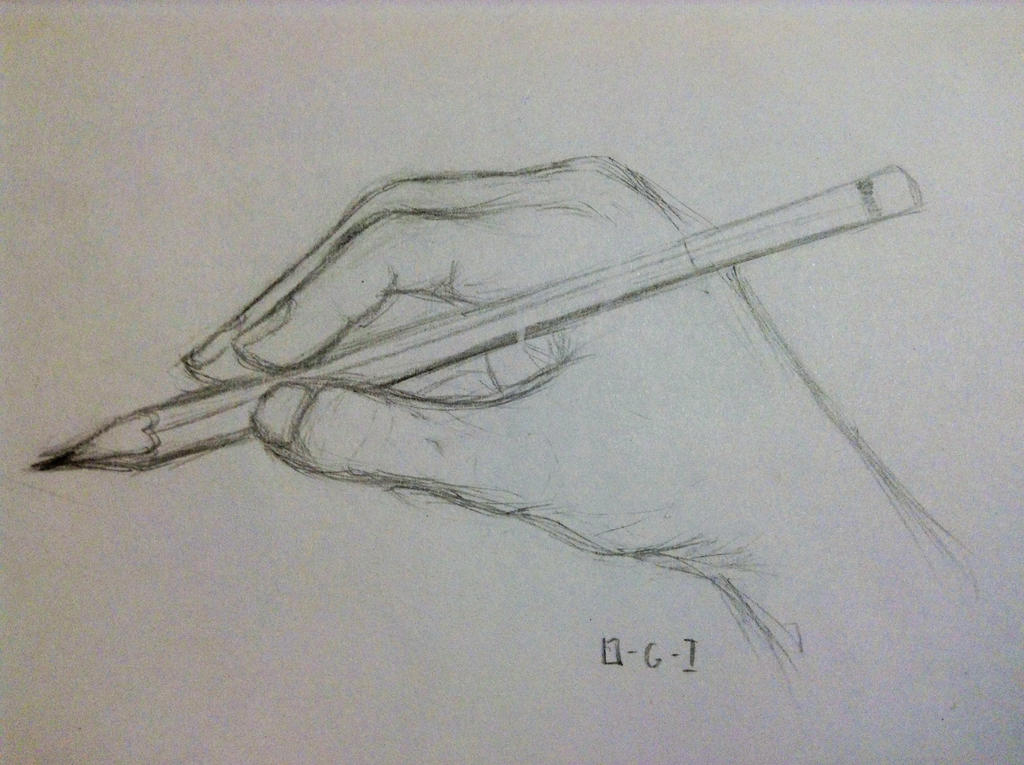 Day 77. Draw your drawing hand while drawing it by 0-G-Inspired