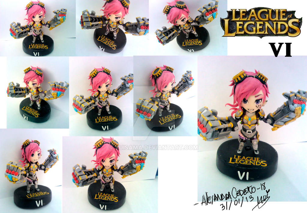 League of Legend Vi photos polymer clay by yuisama