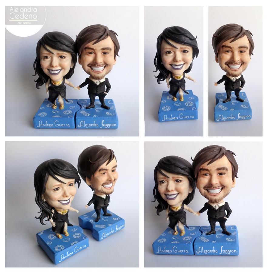 Custom couple figures by yuisama