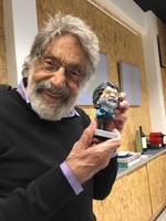Carlos Cruz Diez Sculpture With Carlos Cruz Diez