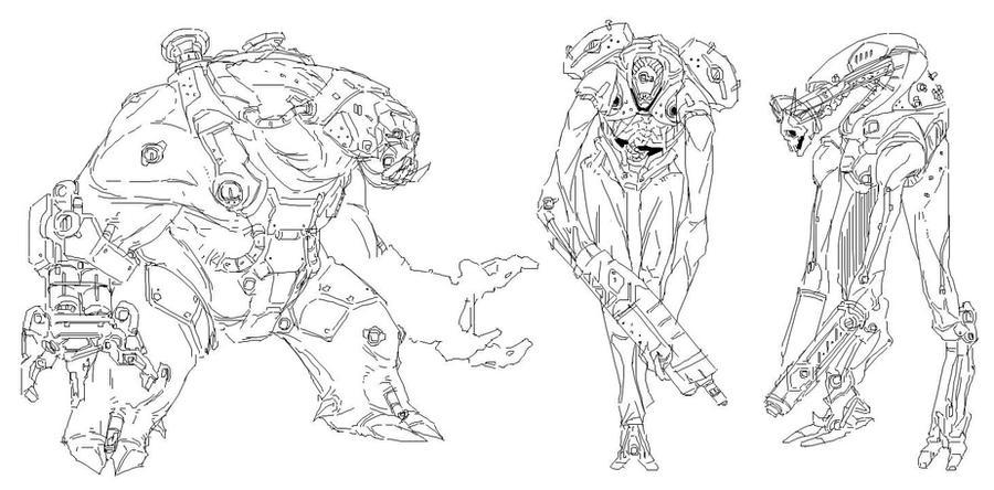Demon Sketches by CypressDahlia