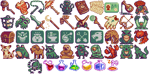 Misc. RPG Item/Pet Icons by CypressDahlia