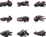 32x32 Horizontal SHMUP Ships