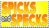 Spicks and Specks Stamp by LoudNoises