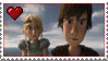 Astrid and Hiccup Stamp by LoudNoises