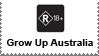 Grow Up Australia Stamp by LoudNoises