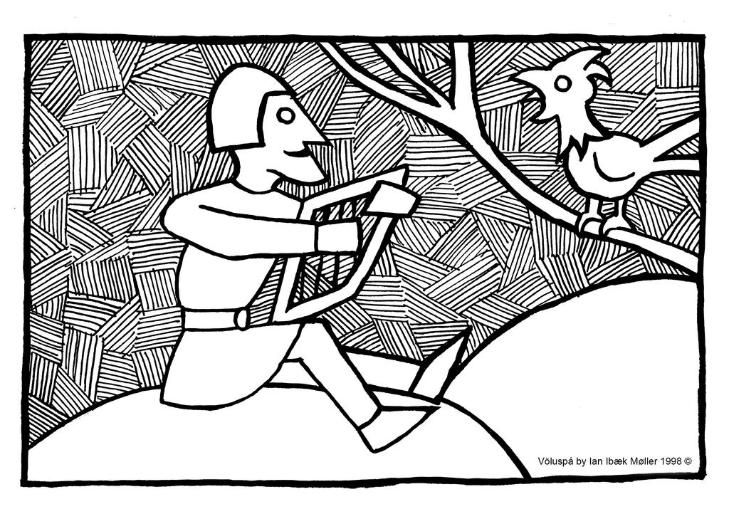 Voluspa - Egg the Harp player by Sigrulfr