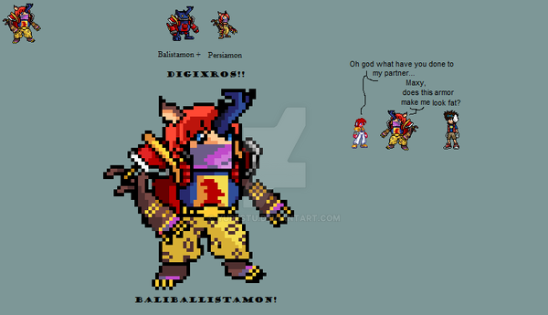 Baliballistamon sprite by yurestu