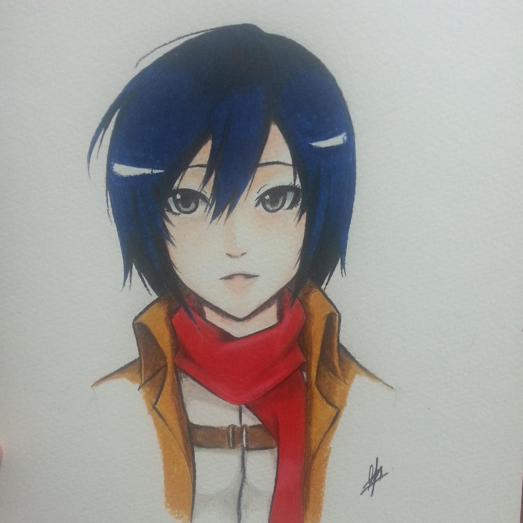 Mikasa Ackerman~ Shingeki no Kyojin by thumbelin0811