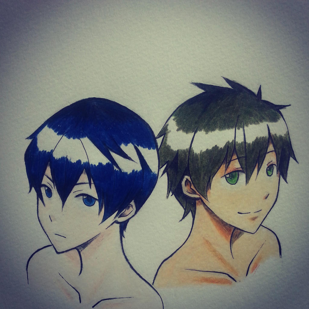 Makoto and Haruka from free! MakoHaru by thumbelin0811