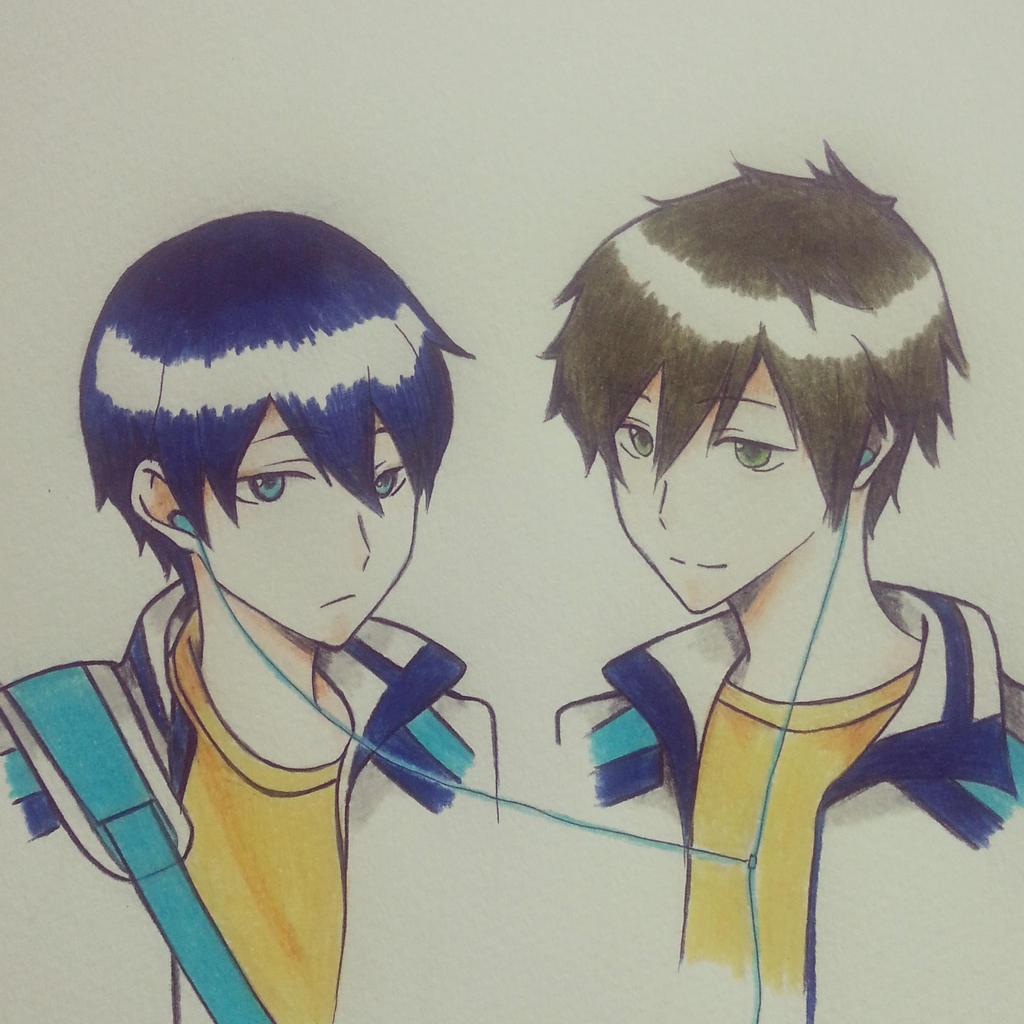 Makoto and Haruka from free! MakoHaru 2 by thumbelin0811