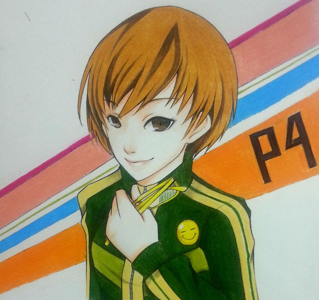 Satonaka Chie Persona 4 New by thumbelin0811