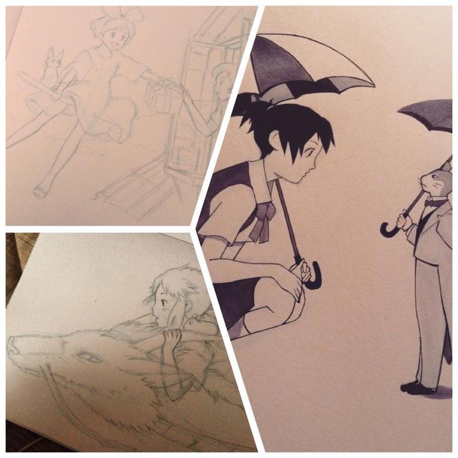 Ghibli's drafts, drawings by thumbelin0811