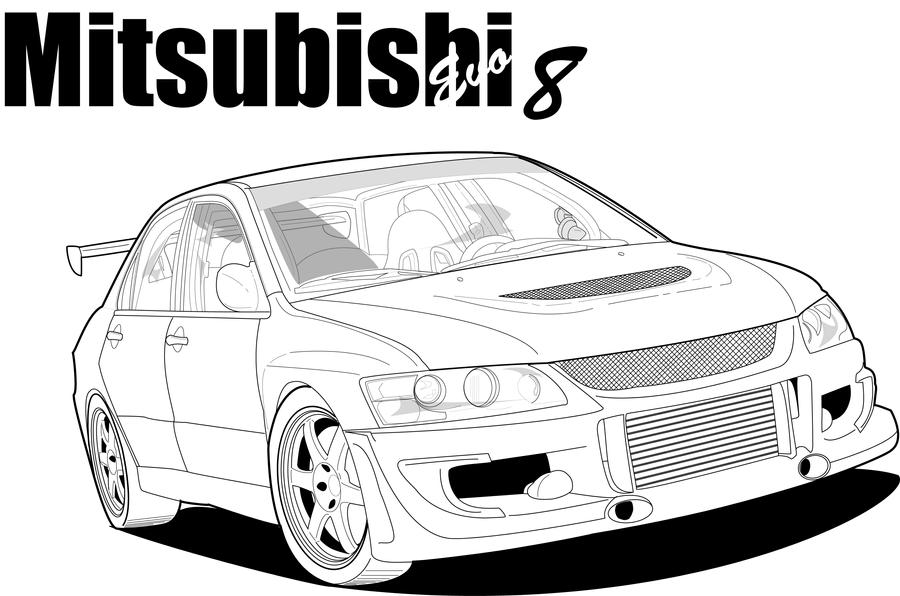 Mitsubishi Outlander coloring page | Free Printable Coloring Pages