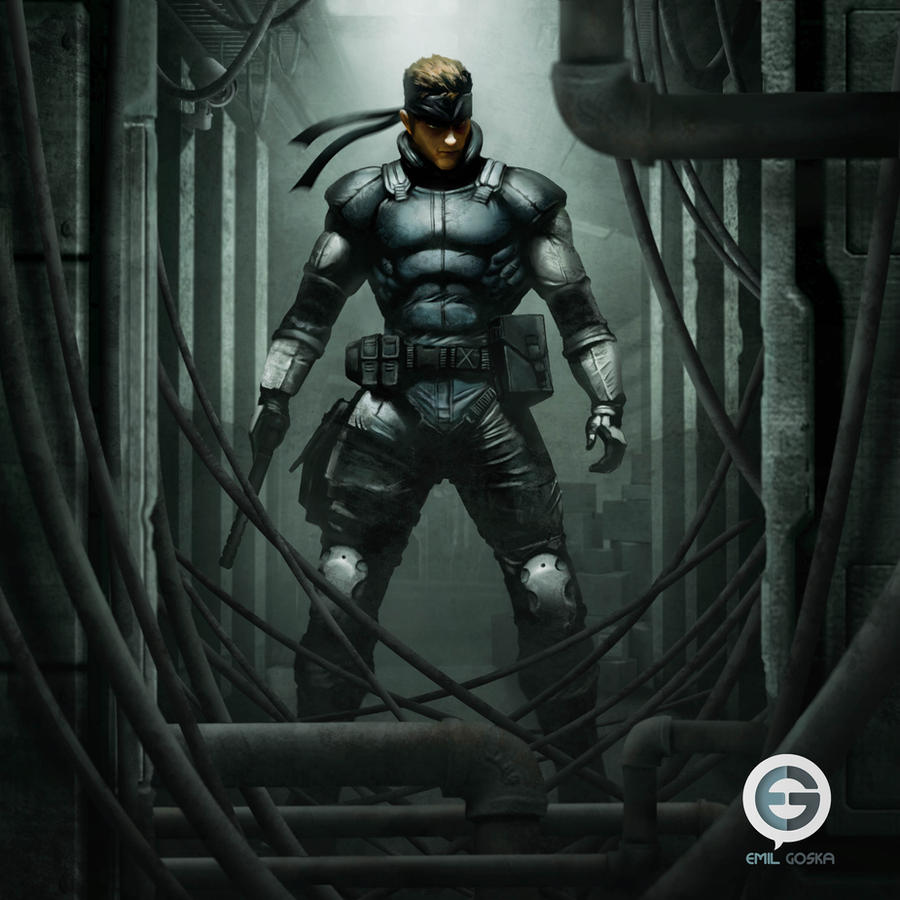 MGS Solid Snake by EmilGoska