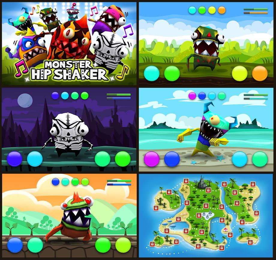 Monster Hip Shaker game screens by EmilGoska