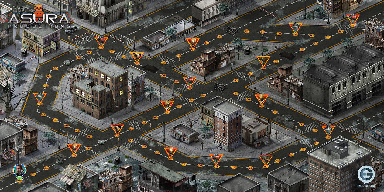 Age Of AI - map design by EmilGoska