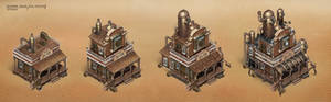 Steampunk Saloon stages