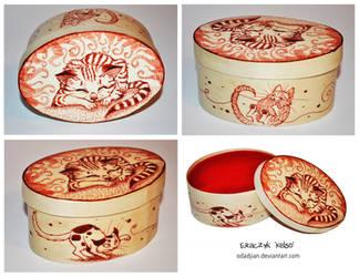 Red kitty cats box by ElaRaczyk