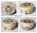 Mushroom owl wooden box