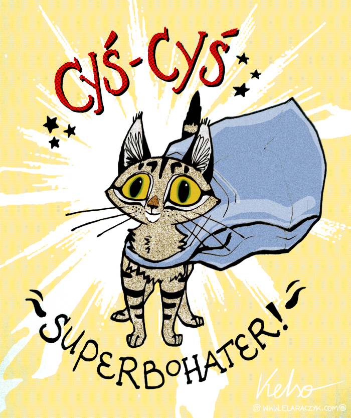 My kitty superhero! by ElaRaczyk