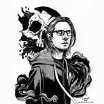 Steven Wilson skull by ElaRaczyk