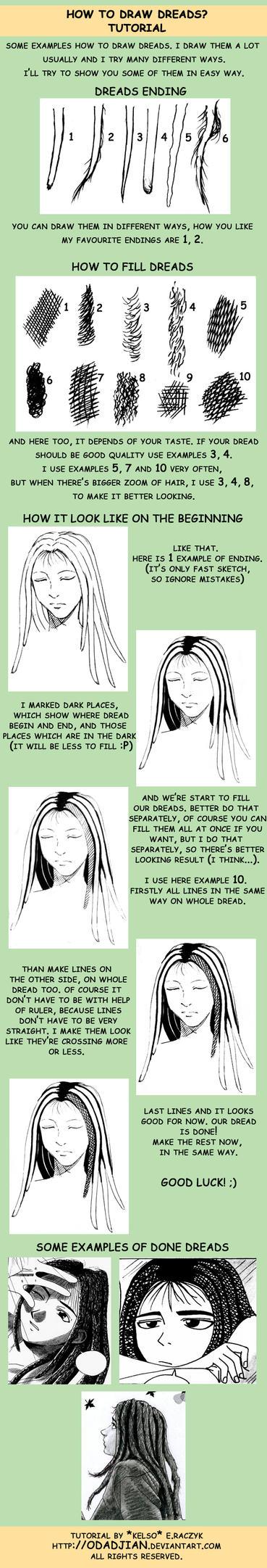 How to draw dreads? English v. by ElaRaczyk